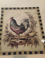 New Retail Inventory Rooster Wall Tapestry Rod Pocket Wall Hanging
