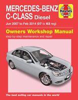 Haynes Manual 6389 Mercedes C-Class C200 C220 C250 Diesel 2007 - 2014