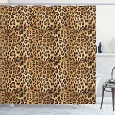 Marrone Tenda da Doccia Leopardato