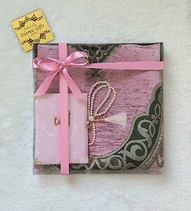 Islamic Gifts Prayer mat Yaseen book tasbih Birthday Wedding Anniversary Mothers