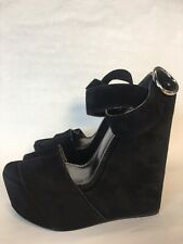Dolce & Gabbana Black Suede Wedge Heels