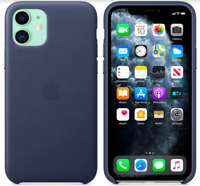 "Apple iPhone 11 6,1"" Echt Original Leder Hülle Leather Case Mitternachtsblau"