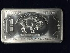 Niobium Bullion Buffalo 1 oz Troy .999 Bar UNC, United States of America