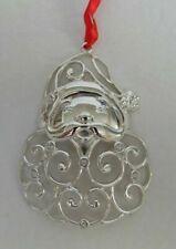Lenox Sparkle And Scroll Santa Ornament Clear Crystal 851309 (Santa) (New)