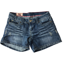 First Kiss Blue Distressed Denim Shorts Junior's Size 7