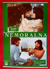 IMMORAL ONE 1980 FRENCH SYLVIE DESSATRE YVES JOUFFROY PERINI EXYU POSTER # 2