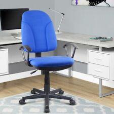 Poltrona Sedia Scrivania Ufficio Girevole Direzionale Tessuto Traspirante Blu
