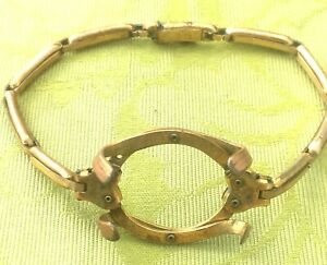FRENCH ART DECO 1920s LADY WRISTWATCH GOLD PLATED BAND / HOLDER ~ MADE IN FRANCE