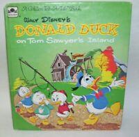 1960 Golden Tell A Tale Book Disney's Donald Duck on Tom Sawyer's Island