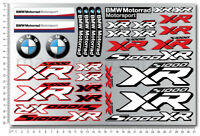 S1000XR Motorrad Aufkleber blatt sticker set Laminiert 33 stickers bmw s1000 XR