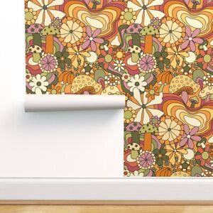 Wallpaper Roll Groovy Mushroom Garden 24in x 27ft