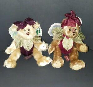 Bearington Collection: Tinker #1404 Belle #1405 Jointed Bears Garden Fairy NWT