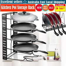 High Quality Kitchen Cookware Storage Holder Pan Organizer Cabinet Pot Lid Rack