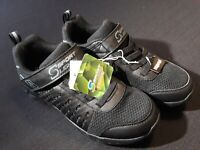 Size 5 Boy's S Sport LIGHTS SKECHERS Strap Closure SNEAKERS Light-up Shoes BLACK