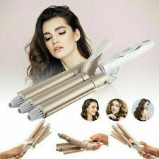 3 Triple Barrel Ceramic Hair Curler Curling Iron Salon Styler Crimper Wave Waver