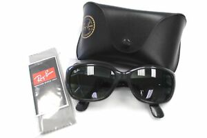 Ladies RAY BAN Black Jackie Ohh Plastic Retro Style Sunglasses & Case Used - C19
