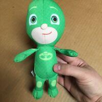"Just Play PJ MASKS Gekko 8"" Green PLUSH Stuffed Animal Doll Toy EUC AR41"