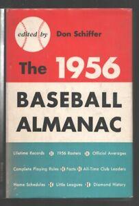 Baseball Almanac-1956-1st edition in dust jacket-stats-game info-stadium diag...