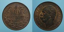 REGNO D'ITALIA UMBERTO I 10 CENTESIMI 1893 BIRMINGHAM FDC