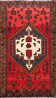 Tribal Hand-knotted Geometric Hamedan Area Rug Traditional Oriental Carpet 3'x5'