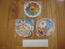 TAKASHI MURAKAMI KAIKAI KIKI FLORAL CAN BADGE SET WITH EASEL FLOWER Hot Deal