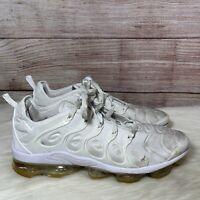 Nike Air Vapormax Plus TRIPLE WHITE 924453-100 Mens Running Shoe Size 11