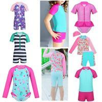 Kids Baby Girls Tankini Suit Swimsuit Swimwear Beachwear UPF 50+ Rash Guard Suit