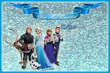 Frozen Party Invitations with matching envelopes, birthday, princess, 12pack