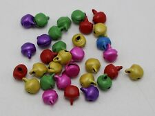 100 Mixed Color Iron Jingle Bells Beads Charms 9mm Decoration DIY Craft