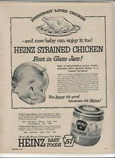HEINZ Baby Food 1955 Magazine Print Ad