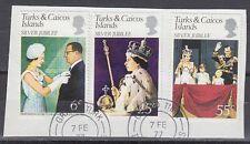 Turks & Caicos 1977 Θ Mi.364/66 Regentschaft Silver Jubilee Queen [sq7124]