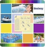 Bestway Reparaturset selbstklebend,10 Flicken für Pool, Luftmatratze extra stark
