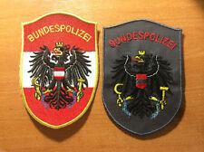 PATCH POLICE NATIONAL AUSTRIA - ORIGINAL! 2 PATCHES LOT