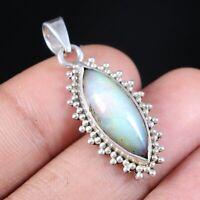 "925 Sterling Silver pendant Jewelry Ethiopian Opal Cabochon 1.40""  sj-05"