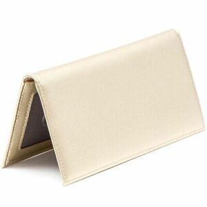 RFID Blocking Personal Checkbook Cover Wallet Card Holder for Men Women, Gold