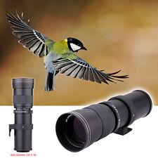 420-800mm Super Telephoto Manual Zoom Lens for Canon Rebel T2i T1i SL1 T5 T3 XS