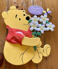 Winnie The Pooh Lighted Happy Spring Wall Plaque Never Used Perfect Condition