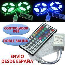 Controlador RGB de DOBLE SALIDA Tiras Led + Mando 44 teclas Double Controller IR