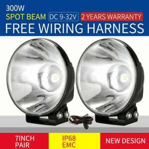 OSRAM 7'' Slimline LED Driving Lights Spot Black Work REPLACE HID XENON OffRoad
