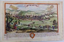 Schwäbisch Gmünd Gesamtansicht Kupferstich altkoloriert Leopold 1750
