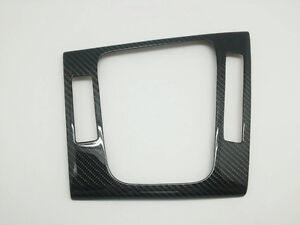 Carbon Fiber Gear Shift Shifter Knob Cover Frame Fits BMW 3er E46 (5 Switch) RHD
