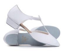 Ladies Girls White PU Dance Greek Sandal Teaching Ballroom Shoe Katz Dancewear