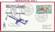 ITALIA FDC VENETIA 551 COSTRUZIONI AERONAUTICHE AMX AER MACCHI 1983 TORINO T293