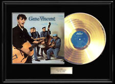 GENE VINCENT & BLUE CAPS SELF TITLED GOLD METALIZED RECORD VINYL LP NON RIAA