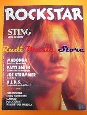 rivista ROCKSTAR 95/1988 Madonna Sting Patti Smith Joe Strummer Clash No cd