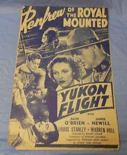 Yukon Flight (1940) James Newill, Louise Stanley PRESSBOOK