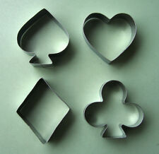"2.5"" Poker play card game party gambling metal cookie cutter set"