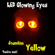 """LED GLOWING EYES HALLOWEEN YELLOW 5MM 9 VOLT WIDE ANGLE 9V 12"""""""