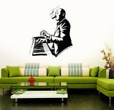 Jazz Singer Music Musical Art Mural Wall Stickers Vinyl Decal (ig3134)