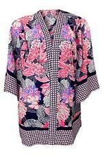 Marks & Spencer Bright Pink Floral Patterned Dark Blue Kimono Jacket